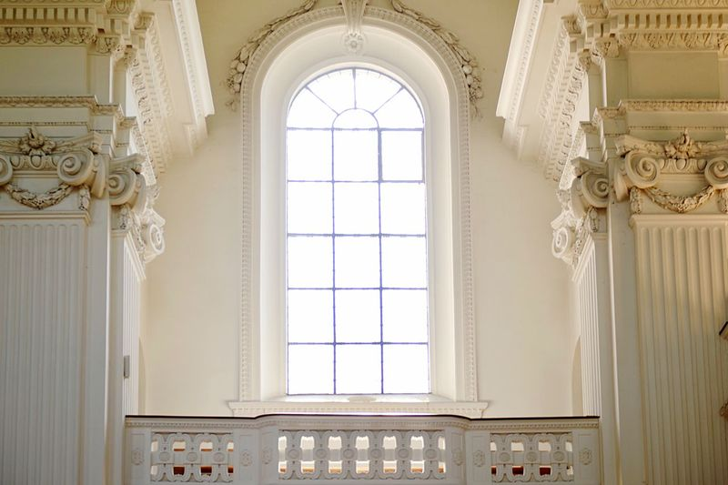 Column Travel Destinations Baroque Church Window Architecture Built Structure Indoors  Building No People Day Wall - Building Feature Ornate The Past Arch Low Angle View Ceiling History