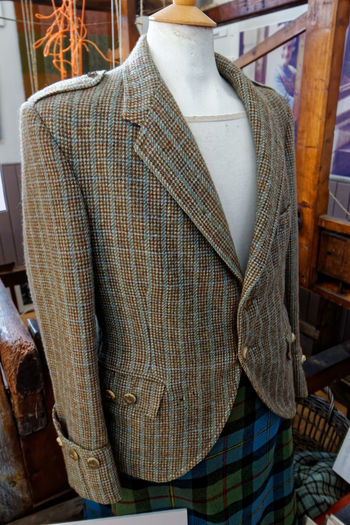 Blazer displayed in mannequin at store for sale