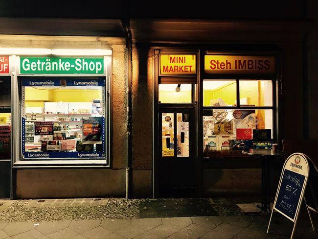 Späti in Berlin Store Illuminated Latenight Retail  No People Supermarket Späti