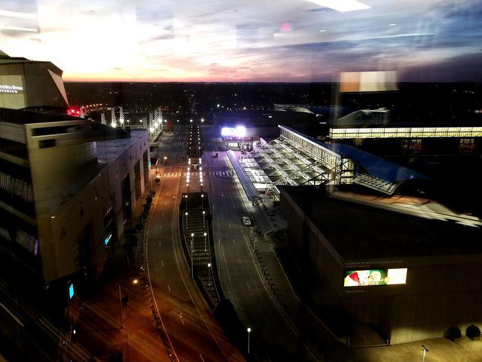 Atlanta Sunset Streetscene Mercedes-Benz Stadium Illuminated Night Nightlife Technology Control Panel