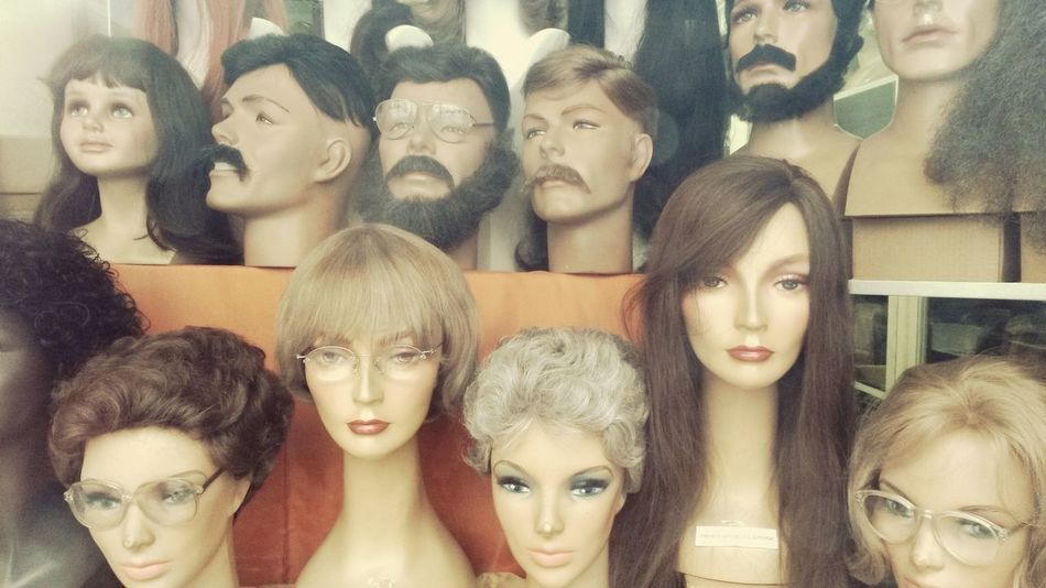 Vintage Shopping Fake Hair Doll Face Top Secret Mission Secret Agent 1970s Inspired Hard Choice Retro Style