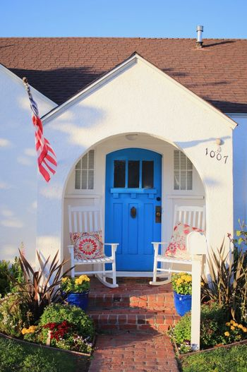 Colors So American Iwantthatcamera Architecture Built Structure Building Exterior Building Entrance House Door