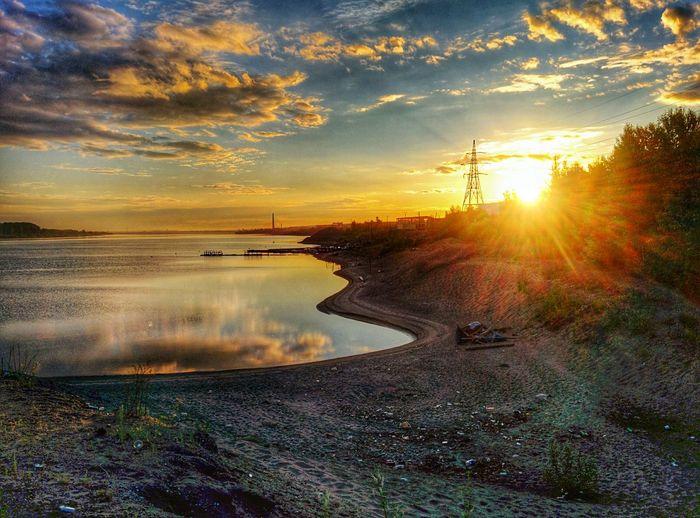 "Dawn over the river ""Kama""."