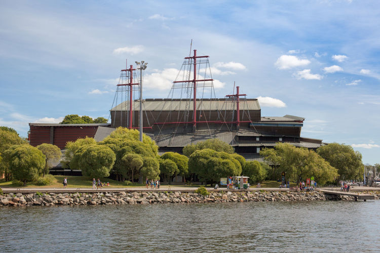 Stockholm, Sweden - Jul 27, 2016 : Waterfront view of Vasa museum, one of the most visited museums in Sweden. Architecture Destination Europe Museum Nordic Countries Scandinavia Stockholm Stockholm, Sweden Sweden Travel Travel Destinations Vasa Waterfront