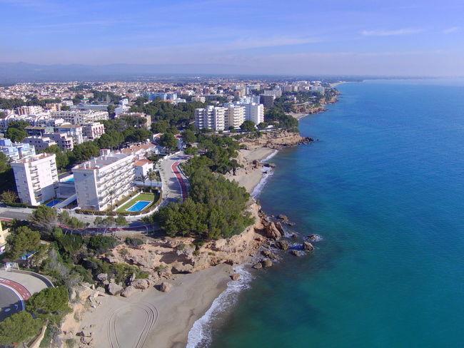 Arquitecture Drone  Miami Platja-Tarragona-Spain Beach Building Exterior Drone Photography Sea Turistic Places