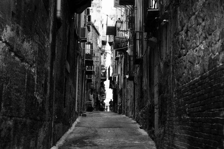 Architecture Built Structure Alley The Way Forward Building Exterior Day Walkway Residential Building Outdoors No People City City City L Palermo Blackandwhite Photography Sicily The Week On EyeEm