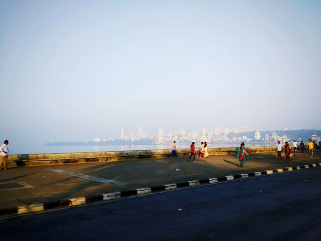 City Clear Sky Sea Outdoors Day Sky People Smartphonephotography MyClick Mumbai_in_clicks MumbaiDiaries Mi5 Photo MI5 Xiaomiphotography Marinedrive Nariman Point, Mumbai Sea View Arabian Sea