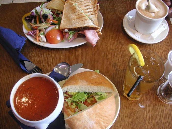 BLT Sandwitch Breakfast Latte Cafe Food Food And Drink Soop