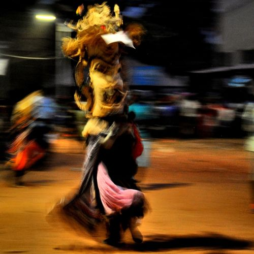 Carnival on the Bijagos Islands Africa Carnival Dance Mask Bijagos Motion Speed Blurred Motion Full Length Low Section Arts Culture And Entertainment Close-up