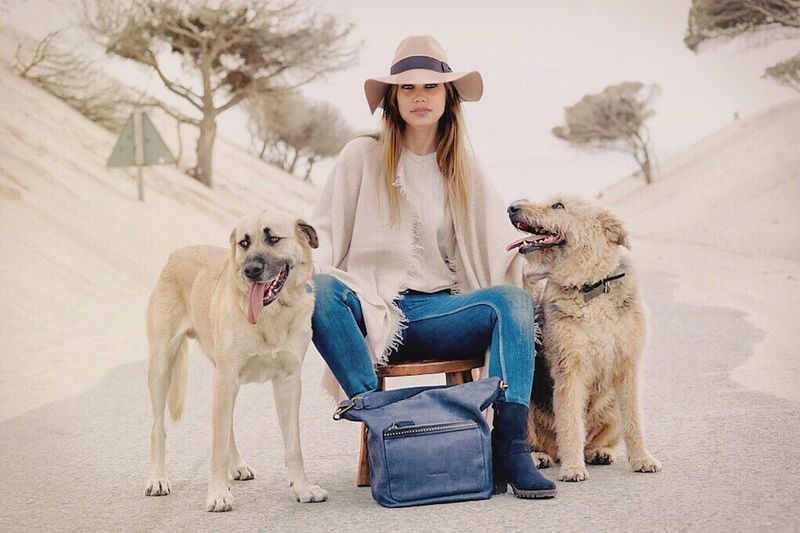 Punta Paloma , Tarifa Beach Lifestyles Fashion Photography Modeling Luxuryleathergoods Dogs Dog Tarifa Animal Full Length One Person People Day Young Adult Nature Outdoors One Young Woman Only