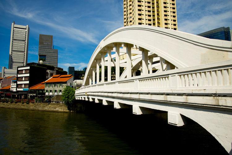 Elgin Bridge Singapore City Elgin Bridge Bridge Singapore River