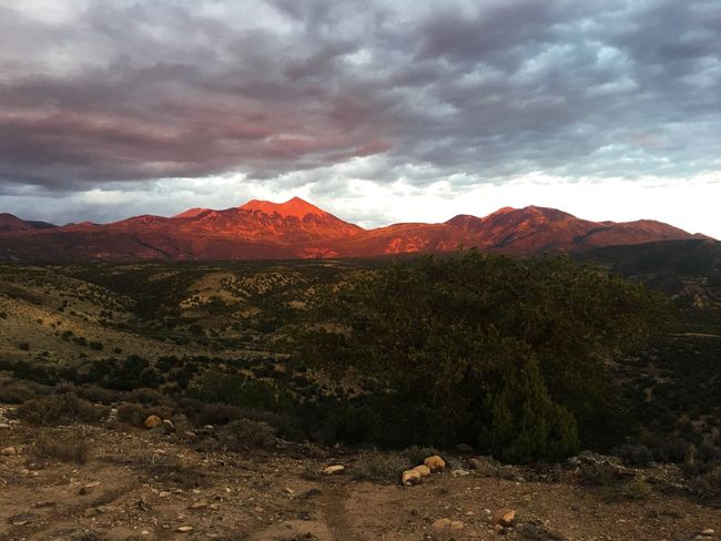 Lost In The Landscape The La Sal Mountains lit up by the setting sun Moab  Utah La Sal Mountains Mountain Beauty In Nature Nature Mountain Range Tranquility Scenics Sky Tranquil Scene Landscape Outdoors No People Sunset