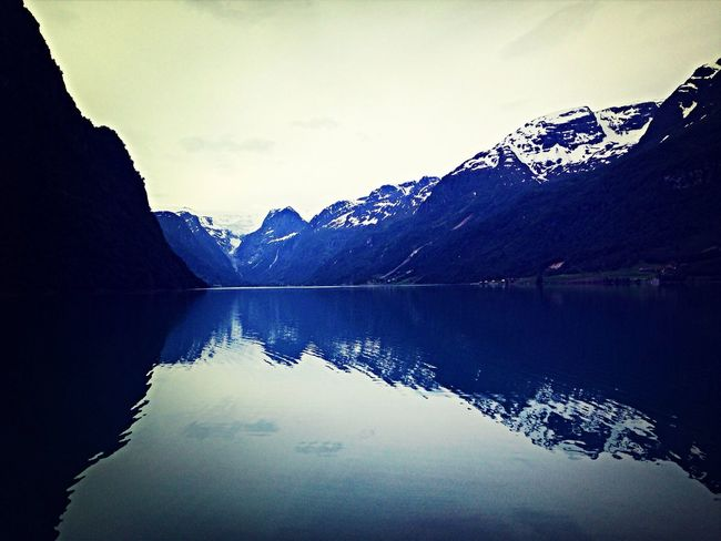 Taking Photos Beautiful Nature Fiordos Norway Water Reflections