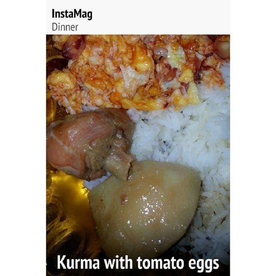 Classic Dinner Oldtime Kurma tomatoes sauce egg favourite kid yummy @harmoneylate