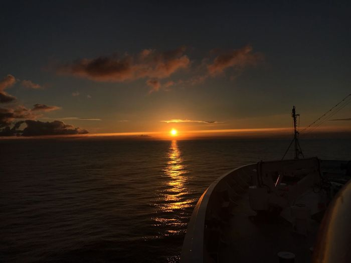 Sea Sky Nature Beauty In Nature Sunrise Trip Travel Photography Clouds And Sky Cloud - Sky Cruise Ship Cruise Water Beauty In Nature Nature Day Travel