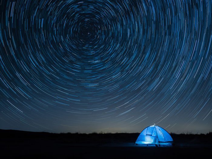 star trail Star Trail Star Trails Tent Blue Night Long Exposure Nature Camping Night Outdoors Tranquility Land Scape Beauty In Nature Star Field Space And Astronomy Star Starry Infinity Glittering Astrology Space Exploration