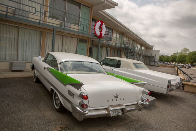 Martin Luther King Architecture Building Building Exterior Built Structure Car City Cloud - Sky Day Dr Martin Luther King Land Vehicle Lorraine Motel Mode Of Transportation Motor Vehicle No People Outdoors Retro Styled Road Street Text Transportation Western Script