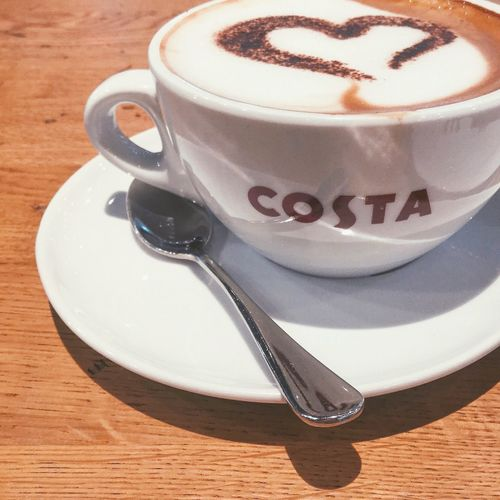 Coffee with style. ☕️ Photobucket Food Foodie Coffee Art Ipod Ipodtouch Apple Inc. Picture Picoftheday Photograph Photo Photography Photooftheday Warm Costa Coffee London Manila Philippines Cappuccino February