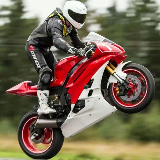Road Racing Motorcycle Wheelie Race Day