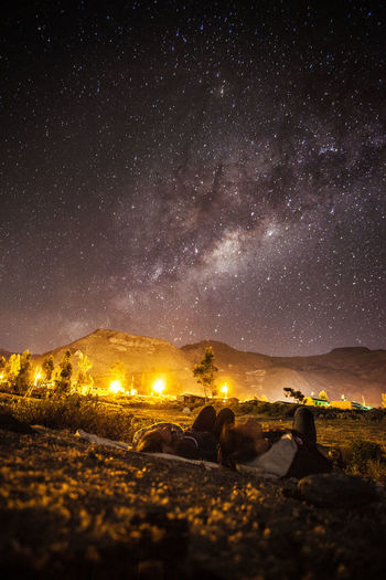 Young Couple Watching Milky Way