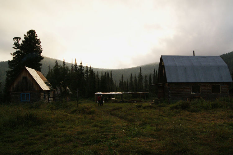 Mountains Siberia, Russia Taiga Forest Tree Barn Sky Grass Architecture Built Structure Building Exterior Tranquil Scene Countryside Country House
