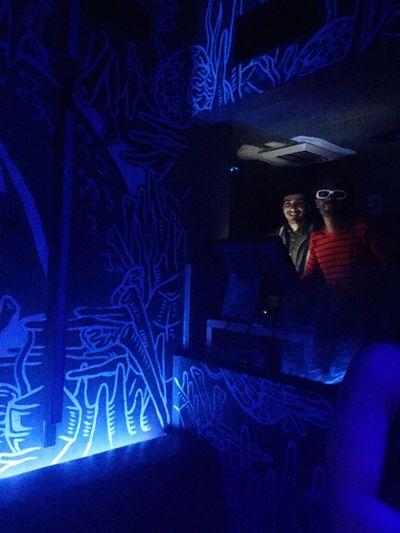Dj Booth Having Fun Neon Lights Miami Beach The Efition Miami Beach The Basement