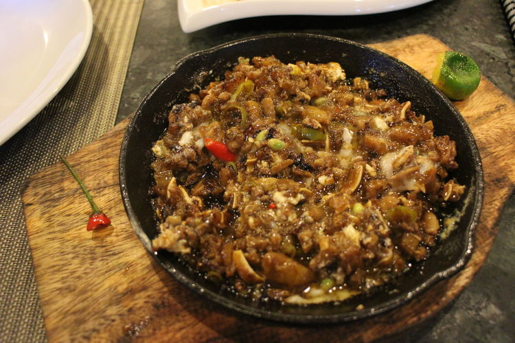 Food And Drink Food Indoors  Freshness No People Ready-to-eat Close-up Sisig Pork Filipino Food Filipino Cuisine Filipino Dish