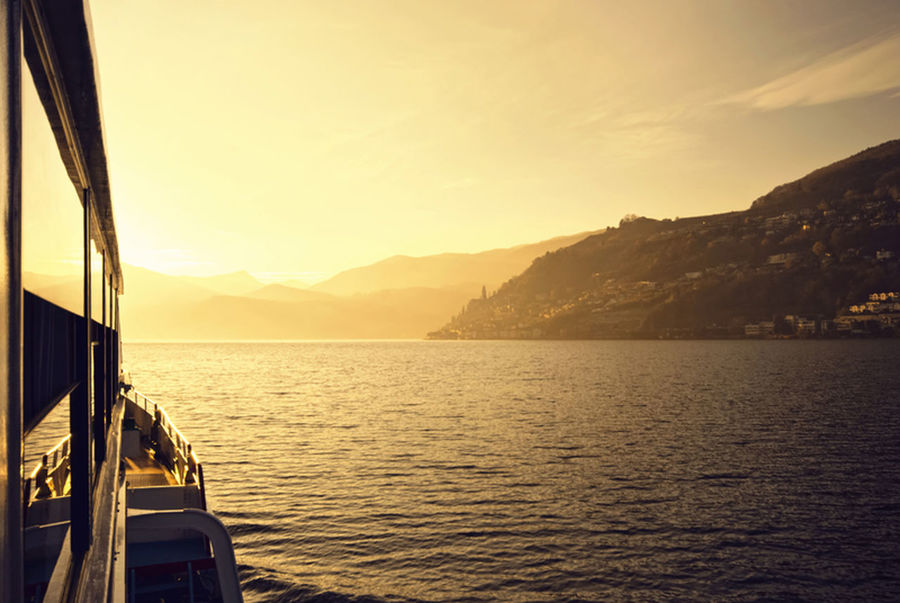 Boat Lago Di Lugano  Reflections