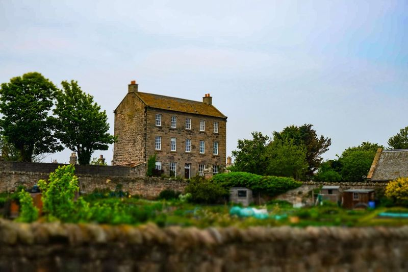 Toy Town, Berwick House Building Miniature Effect Bokeh Trees And Sky Trees Tilt Shift Tiltshift Landscape Cloud - Sky Landscape_Collection Clouds And Sky EyeEm Best Shots Eye4photography  Sky Collection Sky And Clouds EyeEm Gallery Fujifilm_xseries Fujifilm Fuji Fuji Xt20 Architecture
