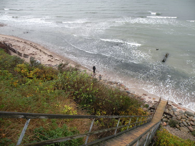 Kattegat Sea at the shore of the island of Zealand in Denmark - Nature High Angle View Beauty In Nature Beach Outdoors Sea Water Wave Day Real People Sand Scenics Autumn at the Shore of Zealand in Denmark