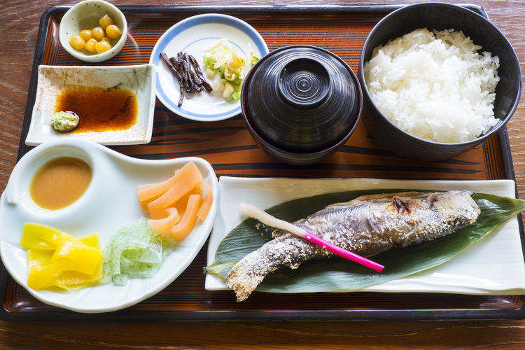 lunch set at takaragawa onsen Japanese Food Rice Set Bowl Close-up Day Fish Food Food And Drink Freshness Healthy Eating Indoors  Low Calories Lunch Set Meal Set Meat No People Plate Ready-to-eat Ryokan Table Variety Vegetable