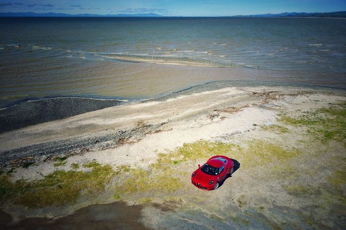 Beach Water Nature Sea Day Tranquility Scenics Outdoors Tranquil Scene Sand No People Red Beauty In Nature Horizon Over Water Sky Car Alfaromeo Alfa Romeo