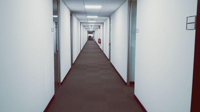 Corridor Indoors  The Way Forward No People Prospective