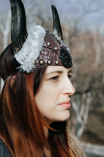 Wiking lady wondering what future will bring. Viking Costume Viking Costume Carnival - Celebration Event Young Women Headwear Portrait Beautiful Woman Beauty Fashion Model Headdress Human Face Females Headshot Human Lips Queen - Royal Person Period Costume #NotYourCliche Love Letter