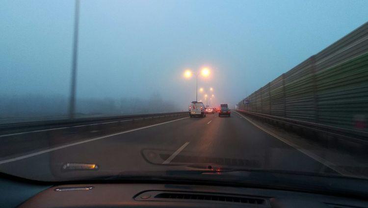 Fog Foggy Morning Legionowo Poland Endipl Morning Cardriving Trip