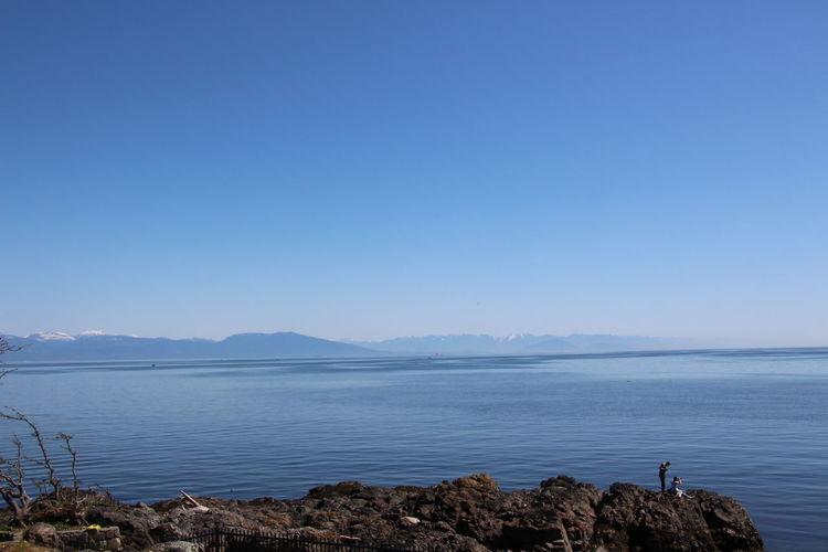 Nanaimo BC Vancouver Island Canada Ocean View Ocean Beach Scenics Blue Blue Sky Beautiful Nature Seascape Coast