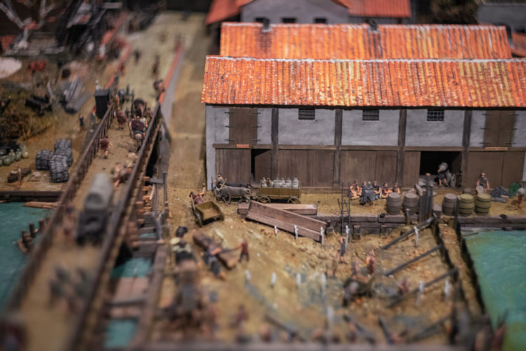 9 December 2018, London - It is very exciting to see Miniature scenes from the ancient London are being exhibited in the Museum of London Selective Focus Day Outdoors Museum Of London Miniature Miniatures Tiny Maket Illustration Town TOWNSCAPE British English