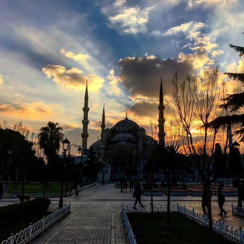 Traveling Home For The Holidays Travel Destinations Turkey Stanbul Sunset Mosque Architecture Cloud - Sky Tourism Miles Away Your Ticket To Europe