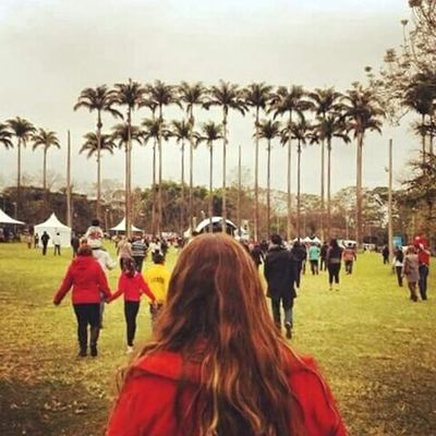 Snapshots Of Life Redhair My Friend Isabela Palm Trees Park Redhead Cores De Almodovar