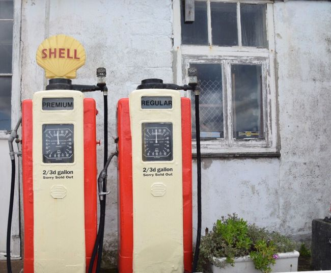 Communication Built Structure No People Day Connection Outdoors Architecture Building Exterior Cornwall Uk St Mawes Harbour Old Petrol Pump Old Petrol Pumps Red Technology Close-up