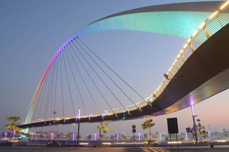Tolerance bridge (dubai canal) Architecture Built Structure Sky Building Exterior Water Arts Culture And Entertainment Nature Modern City No People