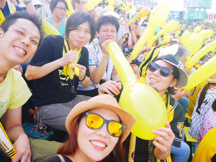 Paint The Town Yellow Happiness People Happy Taking Photos 甲子園 阪神 Baseball Enjoying Life Lumix Gf7 Friends