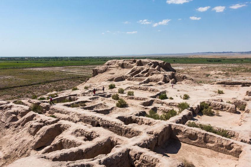 Ruins of the ancient Toprak Kala fortress, Uzbekistan Archeology Central Asia Karakalpakstan NOMAD Silk Road Uzbekistan Archeological Site Dester