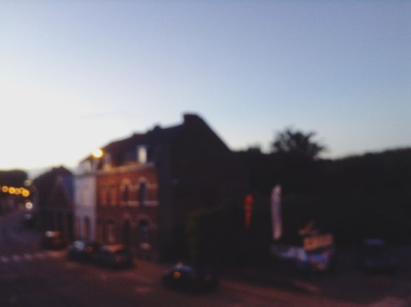 Belgium Belgium. Belgique. Belgie. Belgien. Etc. Blur Blurry On Purpose Clear Sky Evening Sky Flou Houses No People Sky