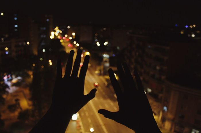 Barcelona, Spain City Dark Human Hand Darkness And Light Lowlight Focus On Foreground Bokeh Hand Hands Night Human Body Part Illuminated One Person Flight Alone Silent Moment Travel Instruments Fleeting Moments Streetphotography Street Exploring Flying Europe First Eyeem Photo