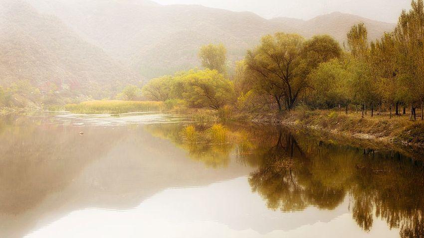 门头沟秋色 Nature Water Beauty In Nature Fog Tree Landscape Countryside Beijing, China