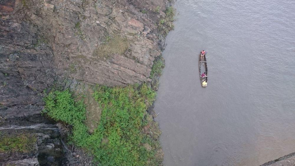 Bridge View Water River Fishing Fishing Boat Farmer Day Sun Garagoa - Boyaca