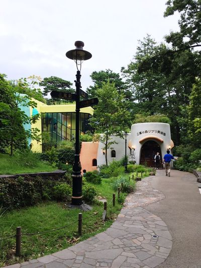 Entrance to Ghibili museum! Tree Architecture Walkway The Way Forward Outdoors Built Structure Day Building Exterior Nature No People Sky Museum Ghibili Arts Culture And Entertainment Tourist Destination Tourist Attraction  Outdoor Architecture Japan EyeEm Green Color Outdoor Photography Art Totoro Walking Around