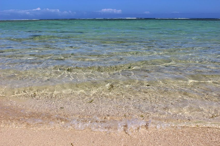 Sea Horizon Over Water Sky Beach Water Beauty In Nature Sand Outdoors Cloud - Sky Nature No People Day Canonphotography Davidvincentvulcain Eyem Gallery Mauritius Island  EyeEmBestPics Water Surface Plage Eauclaire