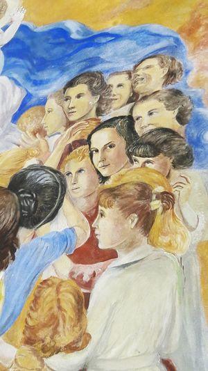 "Close-up Creativity Full Frame 2016 Uruguay_pais Colegio Mural ""Ella siempre nos está mirando""."